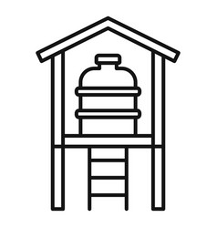 Water reserve barrel icon outline style vector