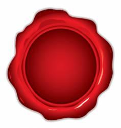 wax seal round vector image