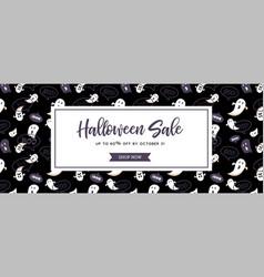 website spooky header or banner with halloween vector image