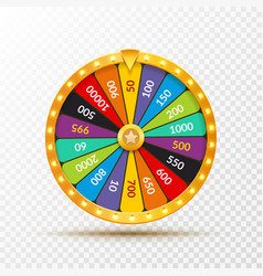 Wheel of fortune lottery luck casino vector