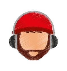 young man avatar character with headphone audio vector image
