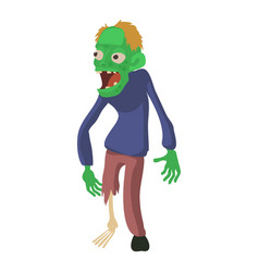 zombie without a leg icon cartoon style vector image