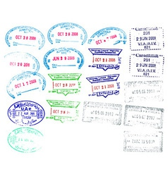 Border Stamps vector image vector image