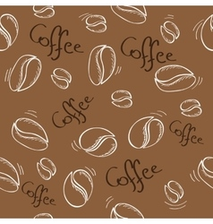 coffee beans seamless pattern - vector image