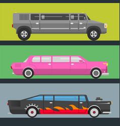 detailed luxury limousine long car vector image