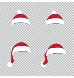 different Santa hats vector image vector image