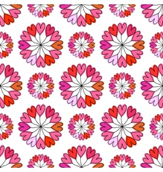 Heart shape seamless pattern Pink color vector image