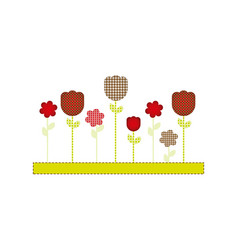color figures flowers plants icon vector image vector image