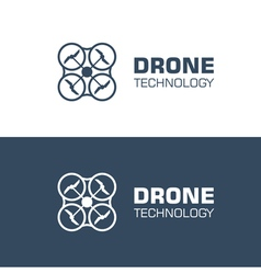 drone logo template vector image vector image