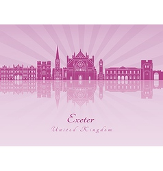 Exeter V2 skyline in purple radiant orchid vector image vector image