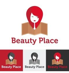 flat beauty shop or spa salon logo set vector image vector image