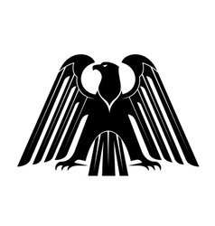 Proud black eagle silhouette vector image vector image