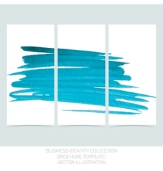 Set of three banners posters abstract headers vector image