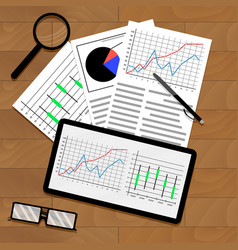 statistical data on table vector image vector image