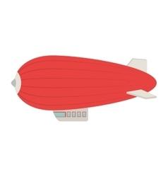 zeppelin ballon fly air icon vector image