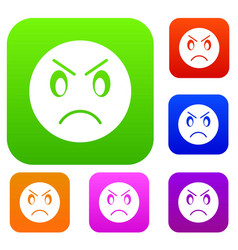 annoyed emotset collection vector image