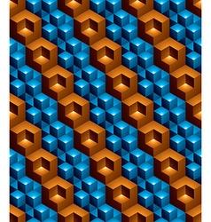 Futuristic continuous multicolored pattern motif vector