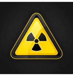 hazard radioactive sign vector image