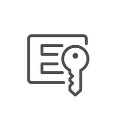 login and password line icon vector image