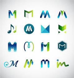 Logo design based on letter M vector image vector image