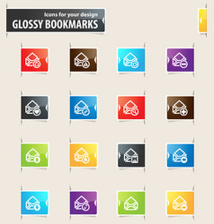 mail and envelope bookmark icons vector image