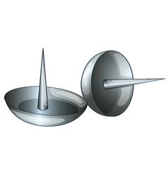 Thumb tacks vector image
