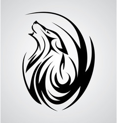 Wolf Tattoo Design vector image vector image