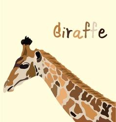 giraffe head vector image