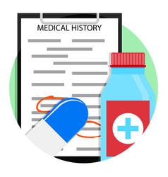 Medical treatment medicine icon vector
