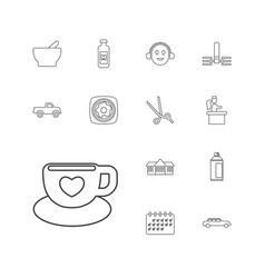 13 clipart icons vector