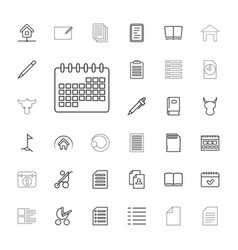 33 page icons vector