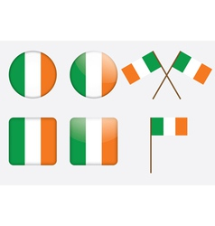 badges with flag of Ireland vector image