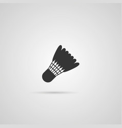 Badminton shutlecock icon vector