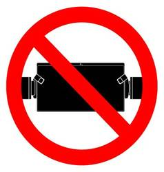 Ban play and use tablet vector