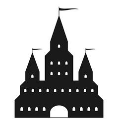 Beautiful black castle silhouette vector