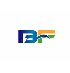 BF company linked letter logo vector