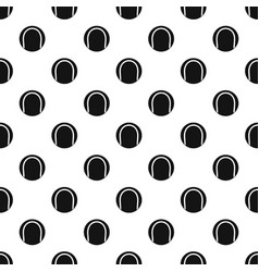 Black and white tennis ball pattern vector