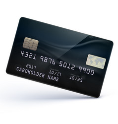 black credit card vector image