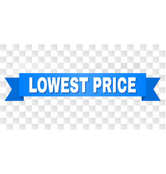 Blue stripe with lowest price title vector