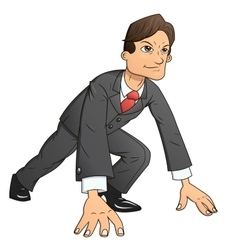 Businessman starting the race to success 2 vector