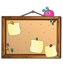 Cartoon bulletin board vector