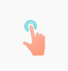 Clicking finger icon hand pointer vector