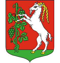 coat of arms of lublin city in southeastern poland vector image