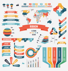 collection of infograph people elements for vector image