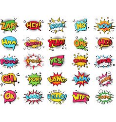 comic book bubbles cartoon explosions funny vector image
