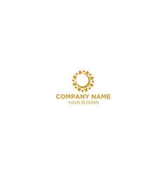 communitiy half moon logo design vector image