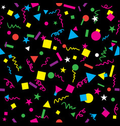 Confetti seamless repeating pattern vector