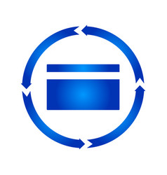 credit card turn icon vector image