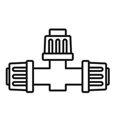 Cross pipe irrigation icon outline style vector