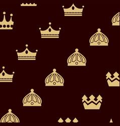 crown king logo design vector image